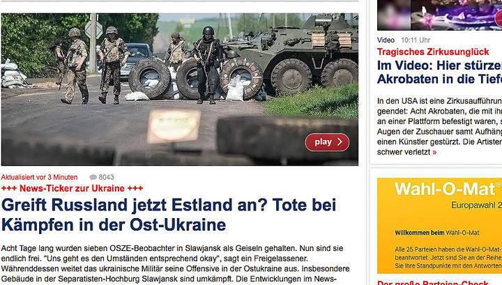 A mídia alemã assusta os europeus pelo ataque russo à Estônia