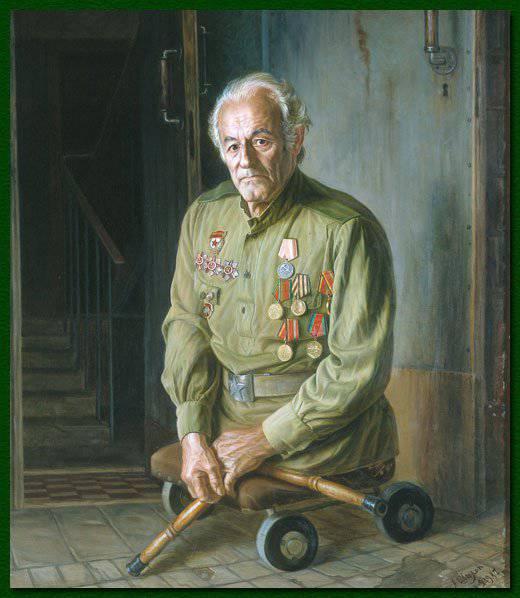 艺术家Shilov Alexander Maksovich  - 退伍军人