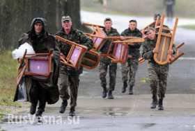 ウクライナの軍隊で集団脱走