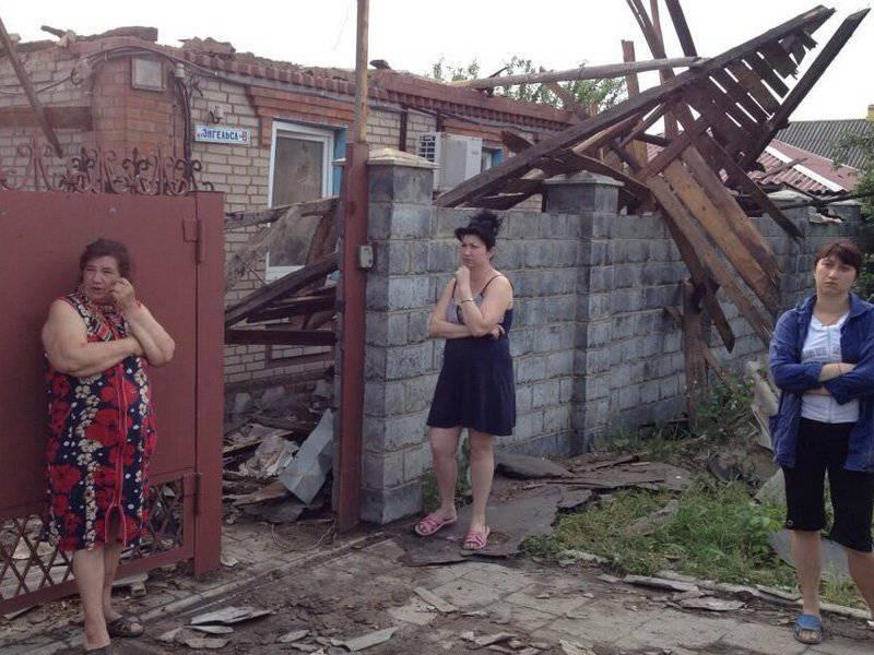 Ukroarmiya frappe les maisons de civils avec de l'artillerie