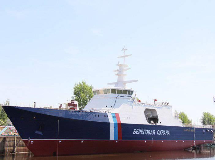 海岸警卫队边境服务的新巡逻舰