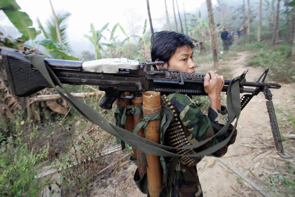 Гражданская война в бирме армия бога