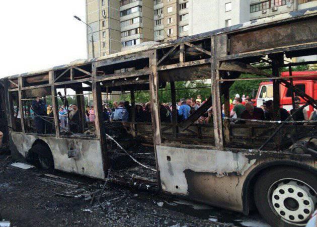 Kiev'de yanmış otobüs: Bir kaza ya da bir terörist saldırı?