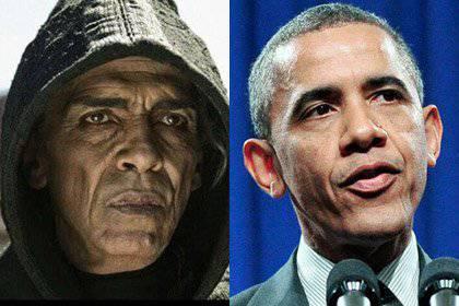 """Amerikan """"Tanrının Oğlu"""" filminin yapımcıları, rolünü alan aktör ABD Başkanı Barack Obama'ya çok benzeyen Şeytan'ın katılımıyla sahneleri kesti."""
