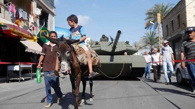 В Ливане сожгли танк «Меркава 4»