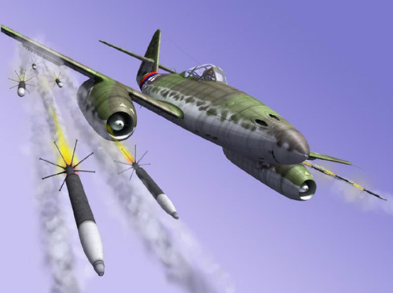 German aircraft rocket of the Second World War
