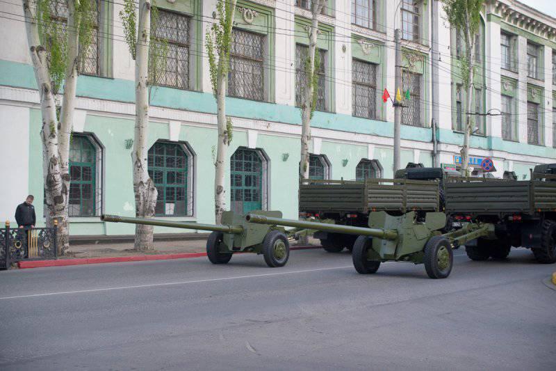 Подготовка к параду Победы в Керчи