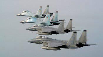 Российские истребители разгромили американские F-15С