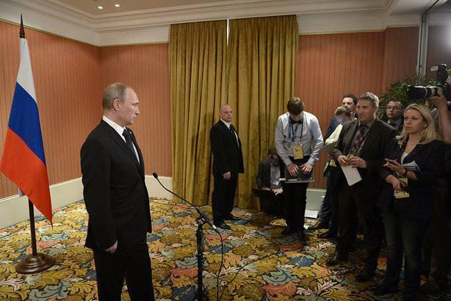 По завершении торжественных мероприятий по случаю празднования 70-летия высадки союзных войск в Нормандии Владимир Путин ответил на вопросы журналистов