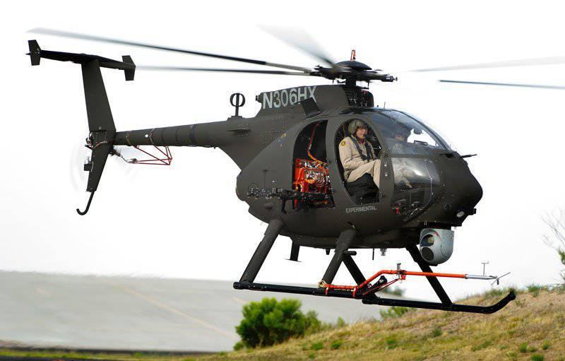 Лёгкий боевой разведывательный вертолёт AH-6i совершил первый полёт