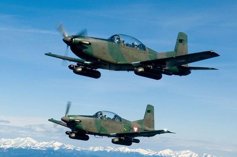 Aeronaves anti-guerrilha modernas. Parte 1