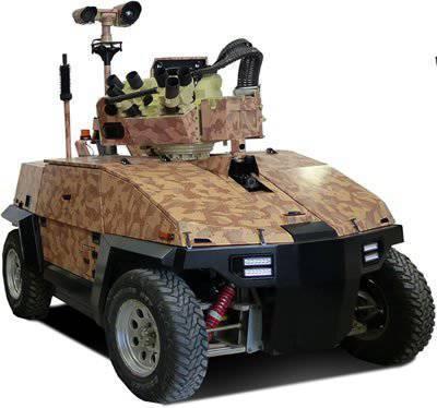 용량 1,2 톤을 운반하는 특히 위험한 임무를위한 이스라엘 하이브리드 로봇