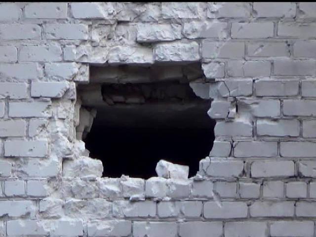 Артиллерийский обстрел Амвросиевки