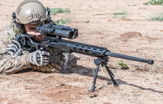 """Новая магазинная снайперская винтовка .338 Lapua """"DAN"""", Израиль"""