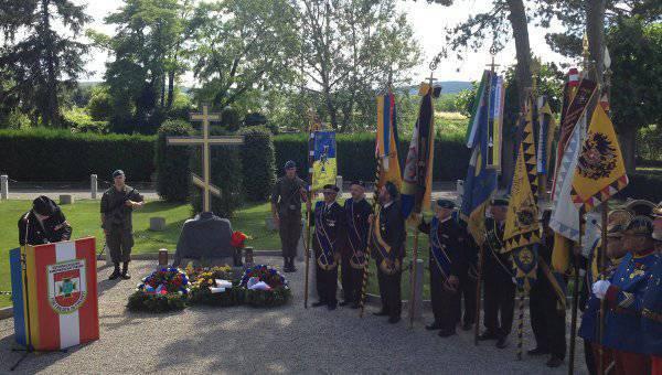 为纪念维也纳附近第一次世界大战的俄罗斯囚犯开放十字架