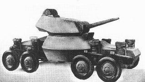 «Прыгающие танки» конструктора Бейкера (США)