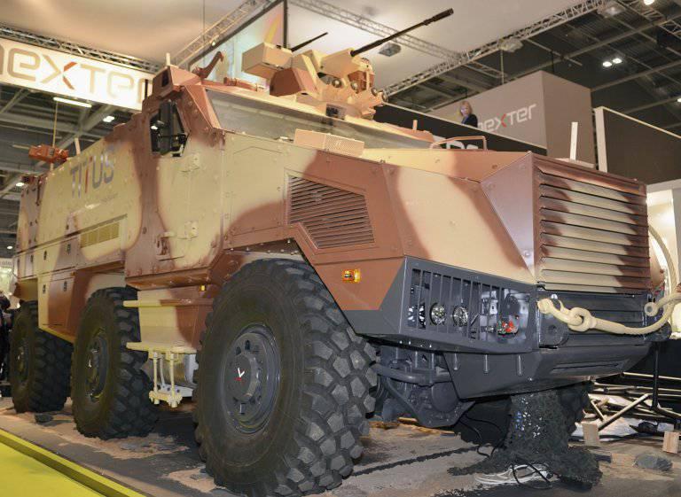 Il veicolo blindato TITUS di NEXTER è stato testato in Medio Oriente