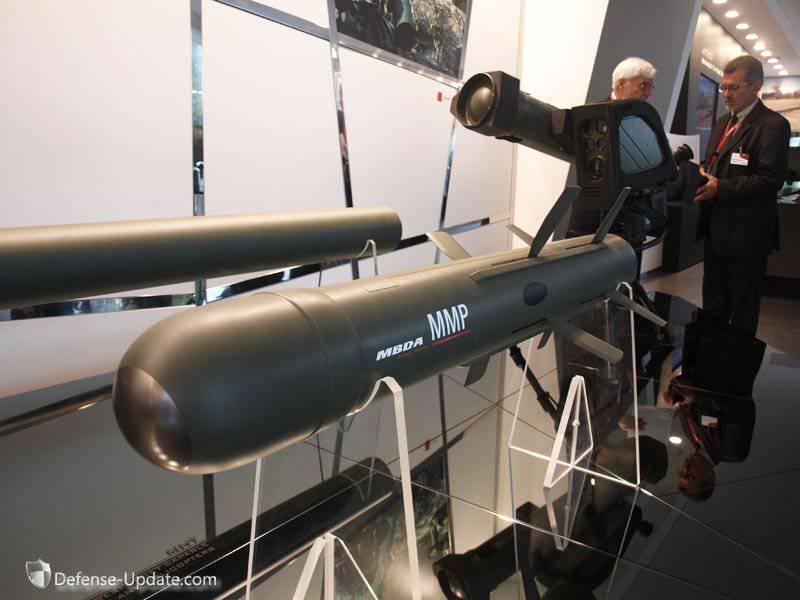 Новый французский противотанковый ракетный комплекс MMP