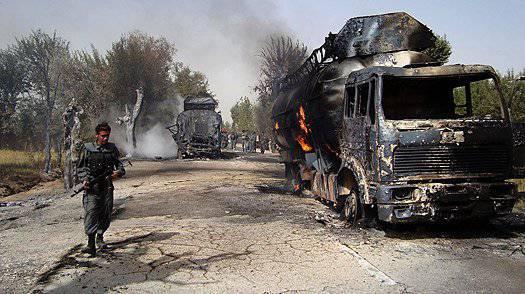 Нападения на натовские колонны в Афганистане