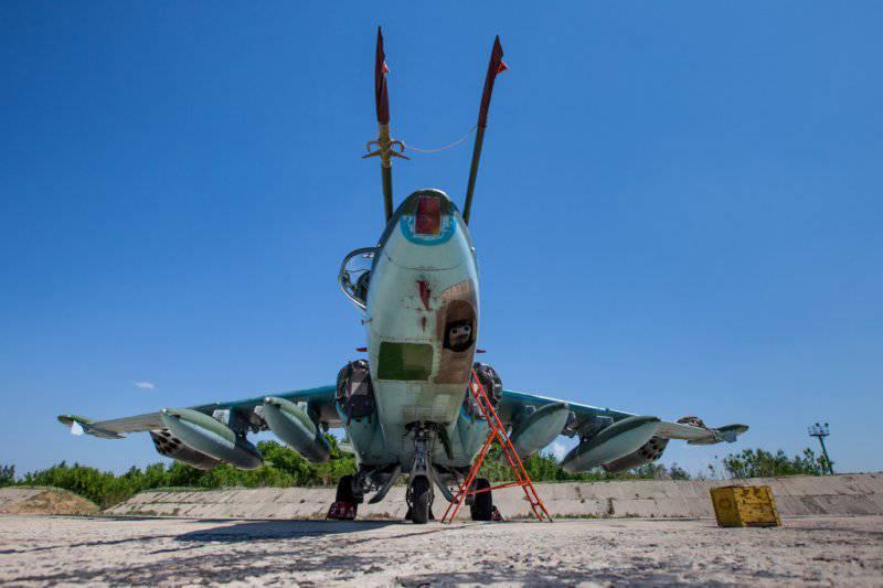 Липецкая авиабаза. Су-25 и Су-24