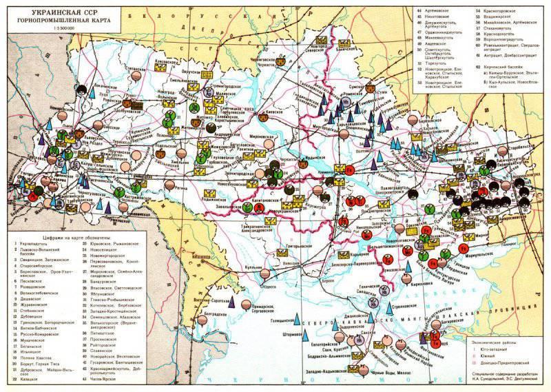 Карта бывшей УССР