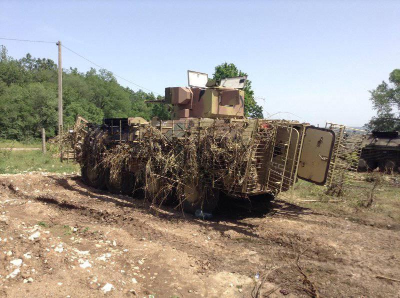 О повреждениях украинской бронетехники