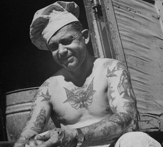 Tattoos sailors of the US Navy