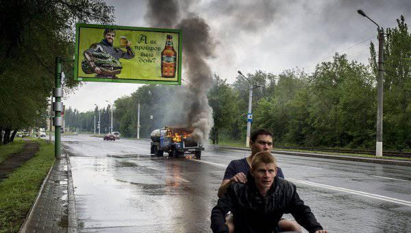 Вооруженные столкновения на улицах Луганска