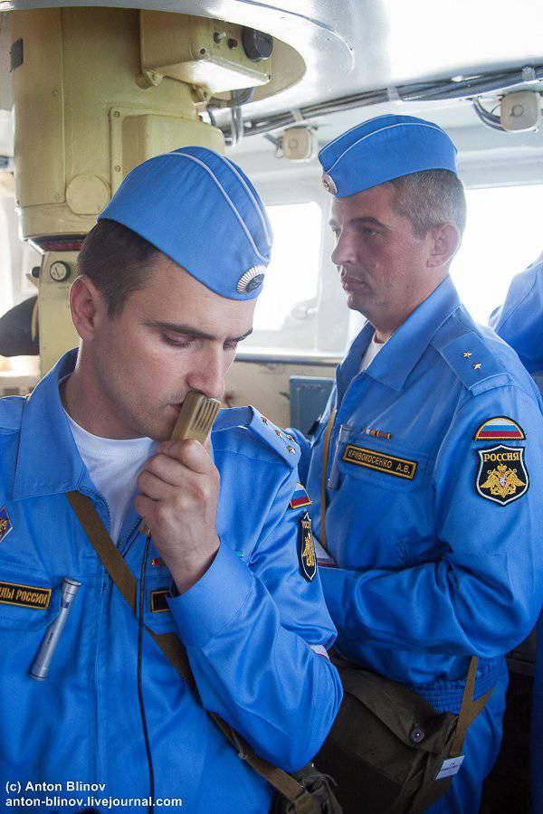 Ensinamentos da Frota do Mar Negro da Rússia. Míssil e artilharia disparando brigada de barcos de mísseis
