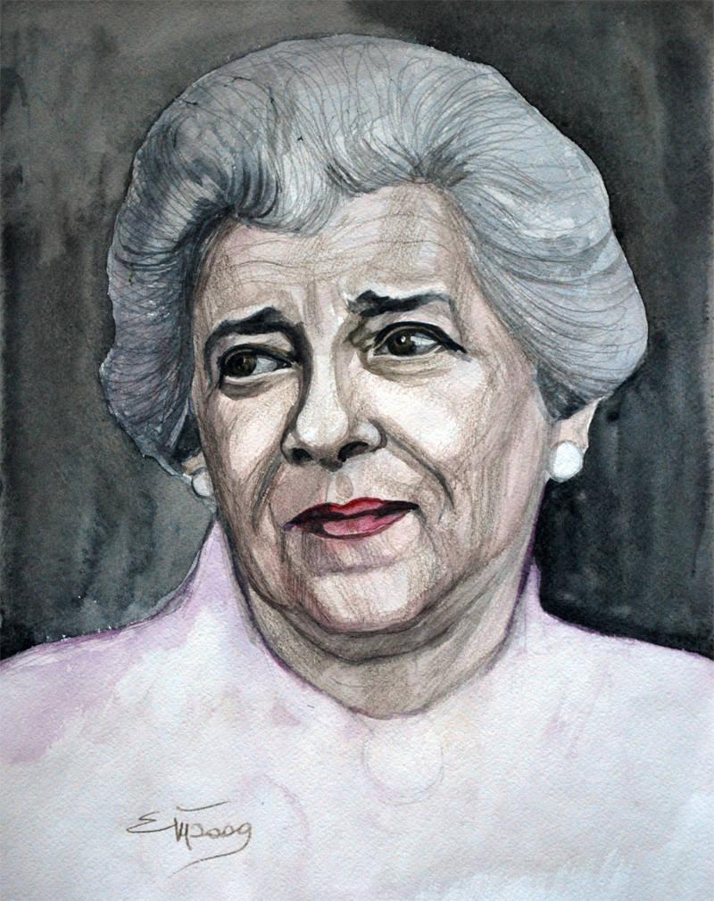这一集的女王。 Faina Georgievna Ranevskaya