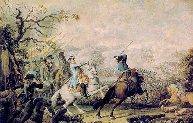 Brillante victoria del ejército ruso en la guerra con Turquía 1768 - 1774