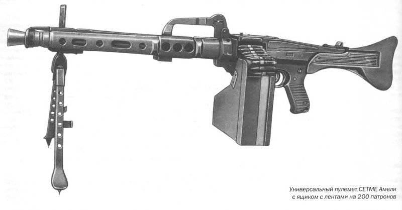 Ручной пулемет CETME Ameli (Испания)