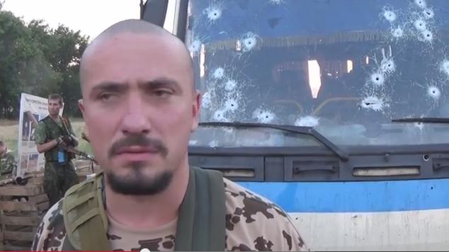 Ополченцы ДНР расстреляли автобус «Правого сектора» на въезде в Донецк