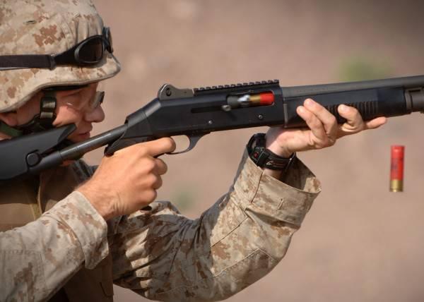 Shotgun in battle