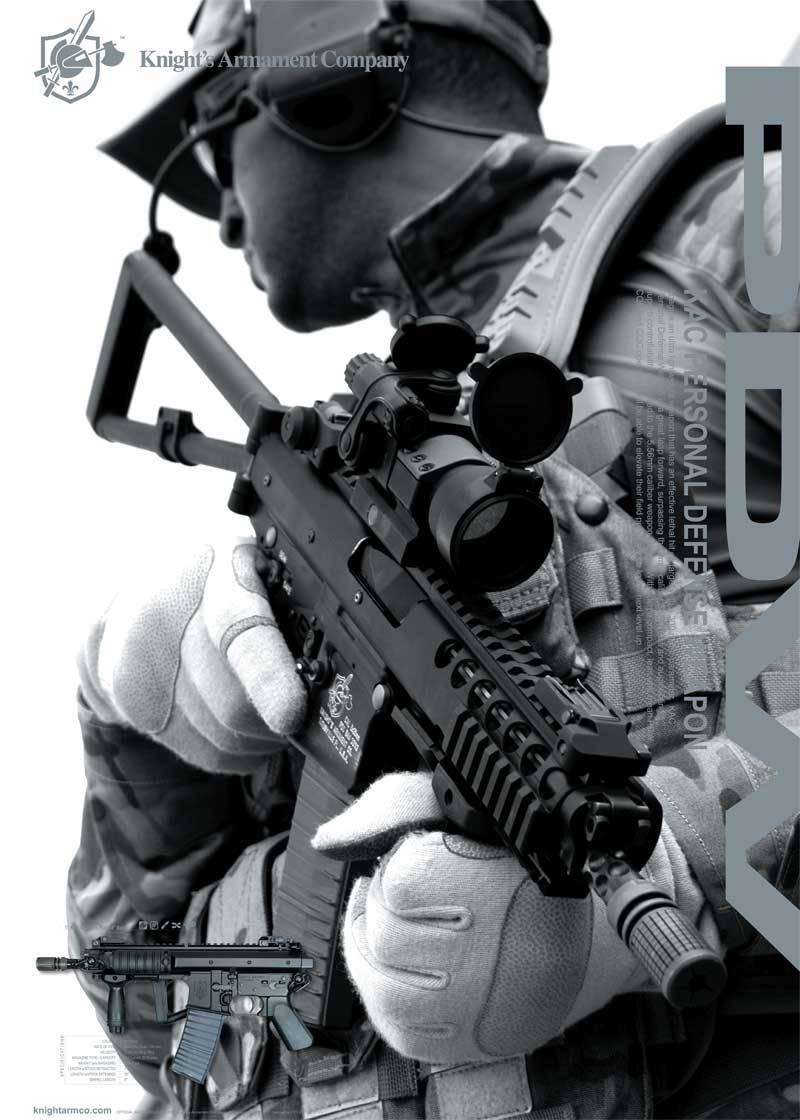 """""""Persönliche Verteidigungswaffe"""" Knight's Armament Co. PDW"""