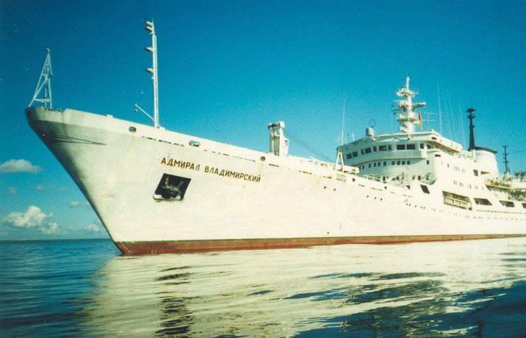 """समुद्र विज्ञान अनुसंधान पोत """"एडमिरल व्लादिमीरस्की"""" दुनिया भर में यात्रा पर गया था"""