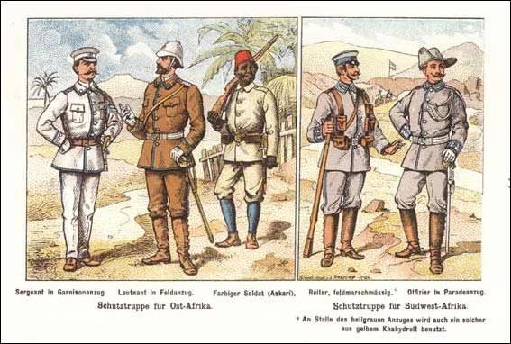 Schutztruppe: Deutsche Kolonialtruppen in West- und Ostafrika