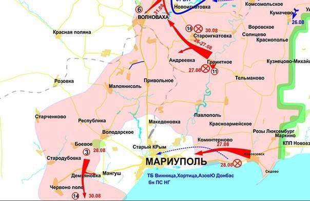 Rapports de la milice de la nouvelle Russie pour 1 septembre 2014 de l'année