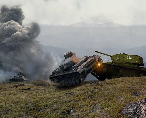 Танковый таран — оружие смелых