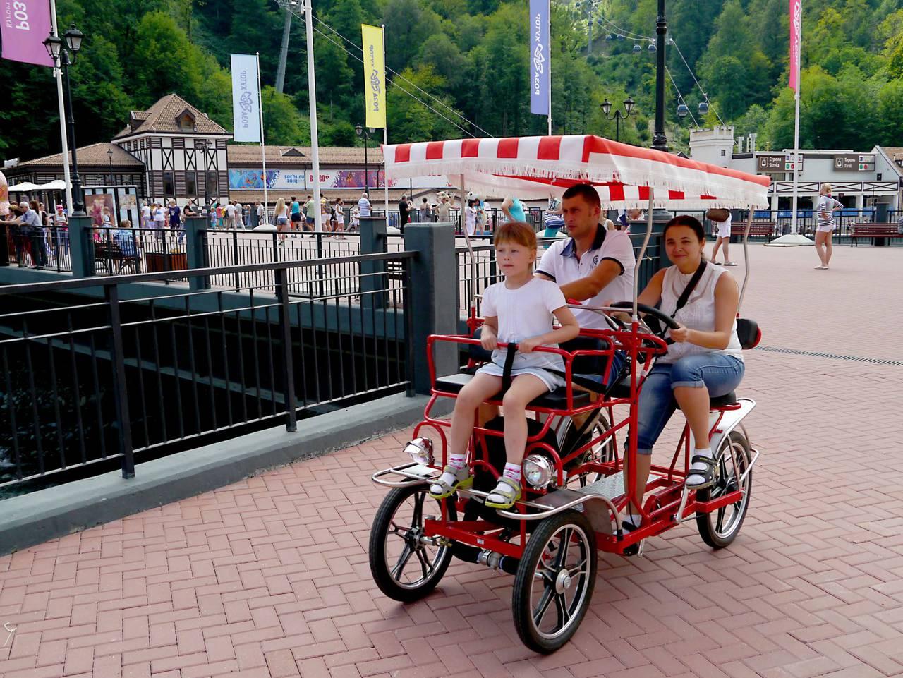 олимпийский парк сочи фото велорикши
