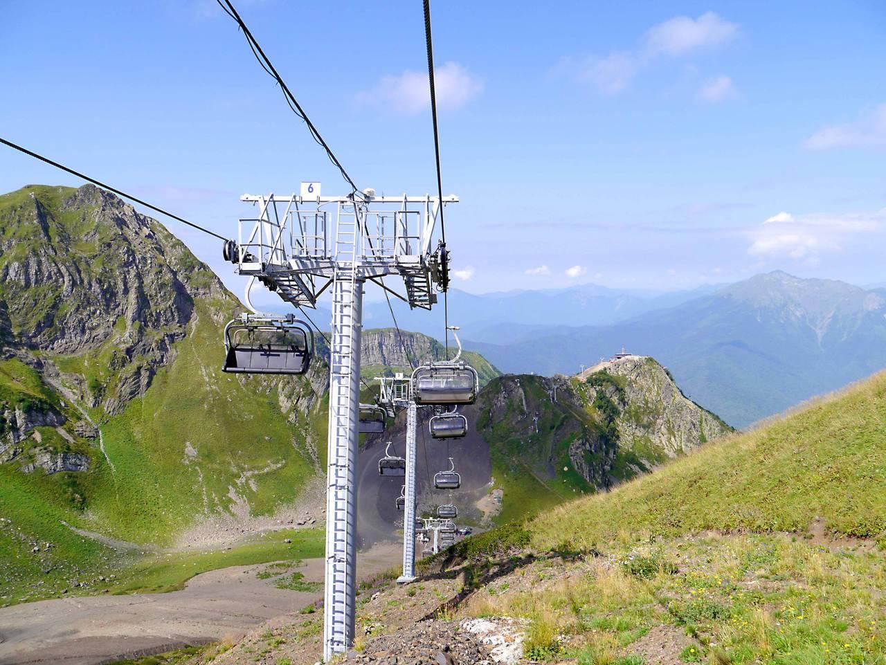 Téléphérique jusqu'au sommet