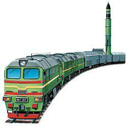 "Combat railway missile system with RS-22 / РТ-23UTTH ""Well done"" (SS-24 Scalpel), USSR"