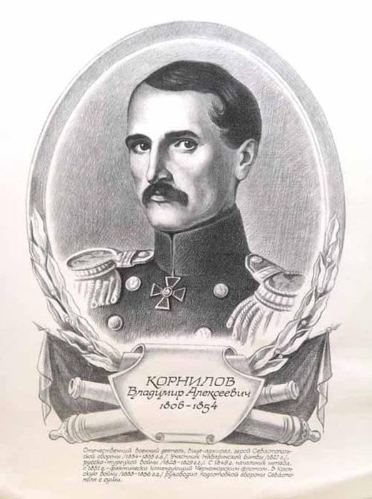 Chernomorsky el almirante Vladimir Alekseevich Kornilov