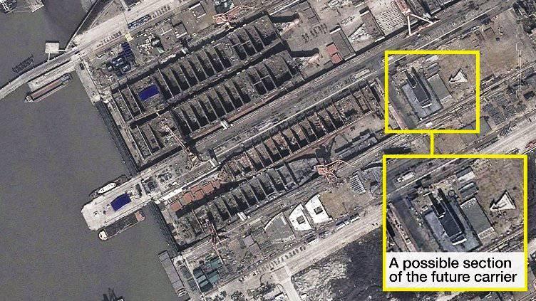 СМИ: Китай скрытно строит свой первый отечественный авианосец