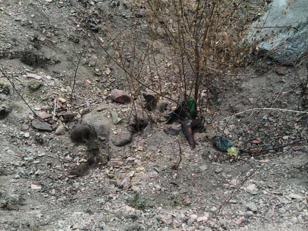 Под Донецком обнаружены захоронения мирных жителей