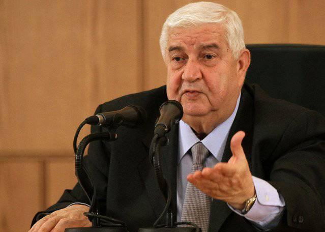 O que Mualem comeu? O chefe do Ministério das Relações Exteriores da Síria, na verdade, chamou os Estados Unidos e os aliados da Síria