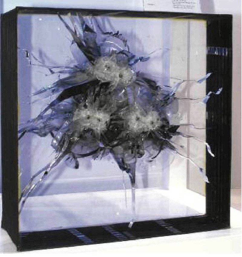 Bulletproof glass. Compromise of mass, value and characteristics