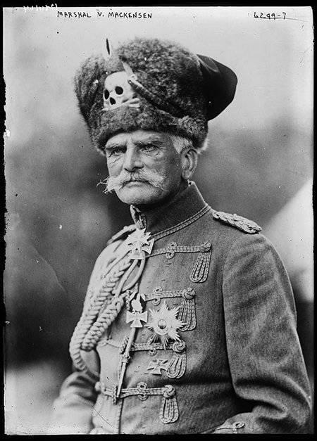 генерал фон Макензен, командующий силами 9-й германской армии