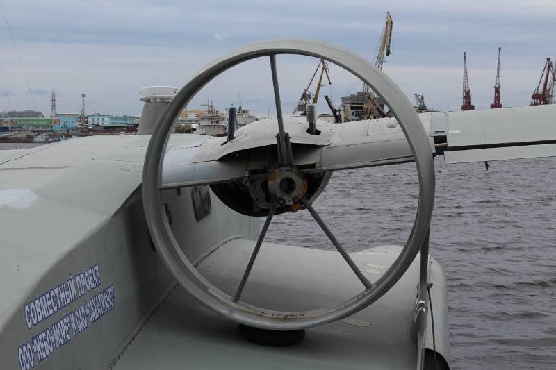 """Ekranoplan """"Burevestnik-24"""" Yakutistan'da pilot operasyona girdi"""