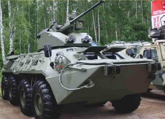 Опытный бронетранспортер БТР-88. Россия
